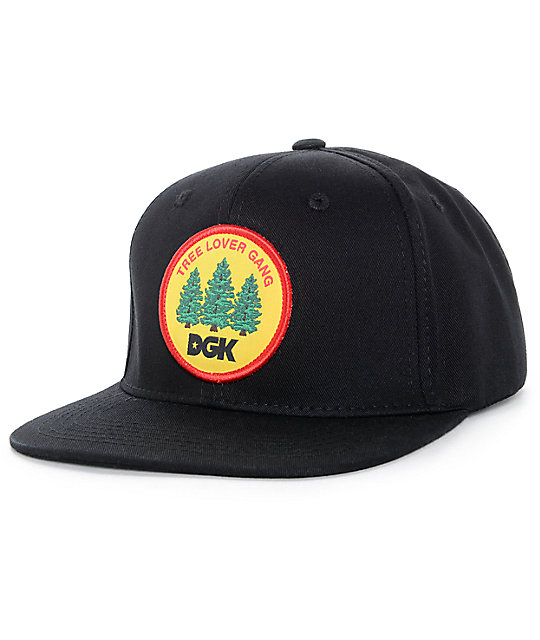 DGK Tree Lover Gang Black Snapback Hat  ef12e3ad8b5