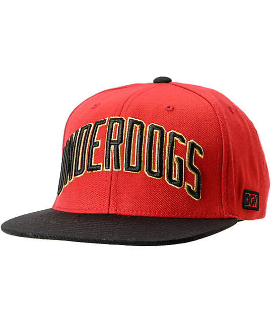 DGK Underdogs Red & Black Snapback Hat