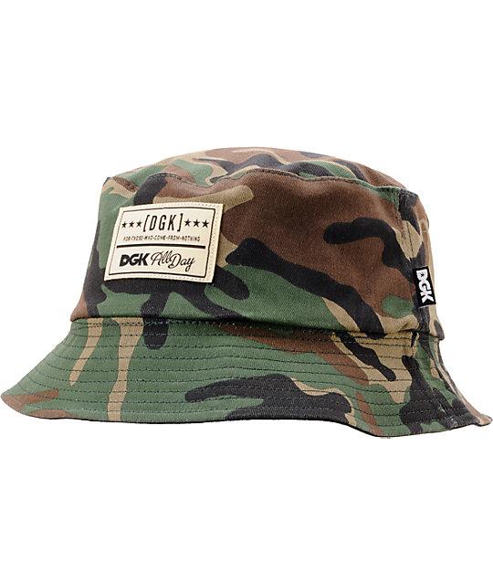 DGK Universe Woodland Camo   Black Reversable Bucket Hat  d536372adbc
