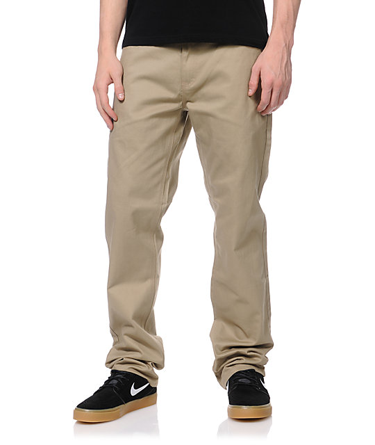 DGK Working Man 3 Khaki Chino Regular Fit Chino Pants