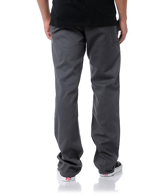 DGK Working Man Charcoal Grey Regular Fit Chino Pants