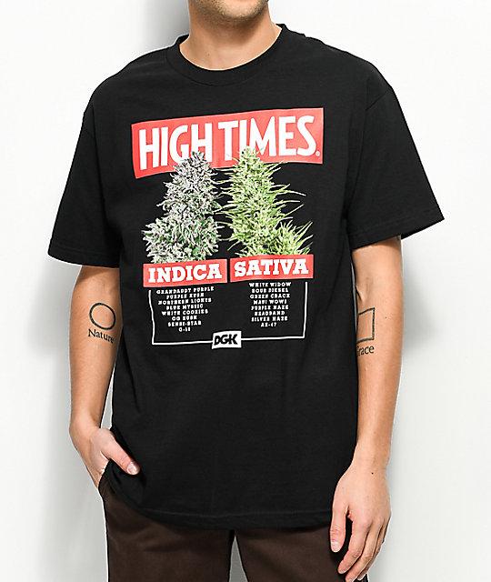 DGK X High Times Options camiseta negra ... b0e43caee8b