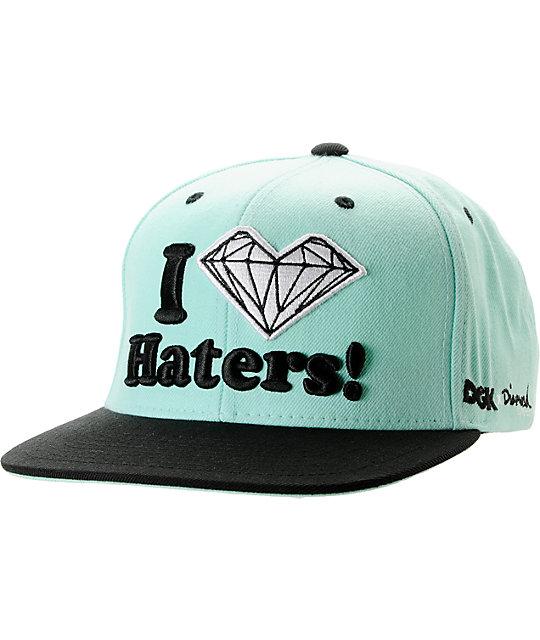 5038e67d732 DGK x Diamond Supply Co. I Heart Haters Mint Snapback Hat