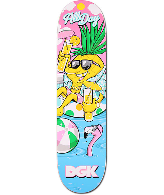"DGK x Zumiez Couch Tour 2013 Pineapple 8.0""  Skateboard Deck"