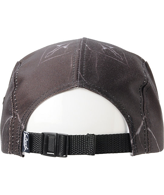 DNA Marble Printed Black 5 Panel Hat