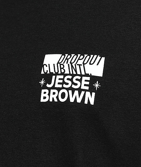 DROPOUT CLUB INTL. Flash Art Jesse Brown Black T-Shirt
