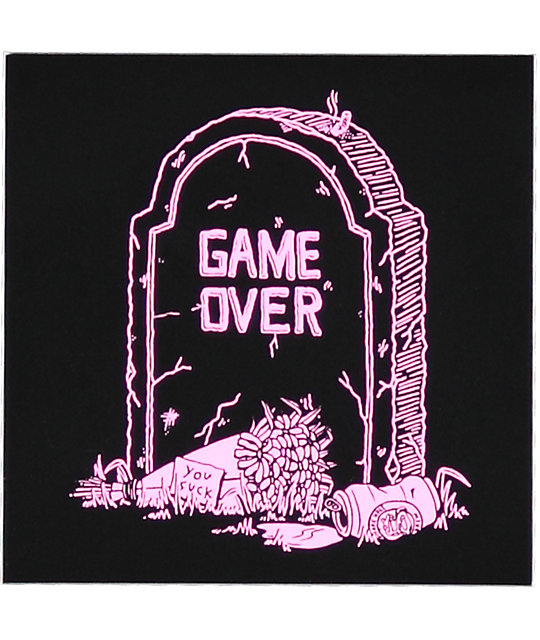 DROPOUT CLUB INTL. Game Over pegatina