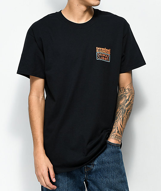 DROPOUT CLUB INTL. Sorry Black T-Shirt