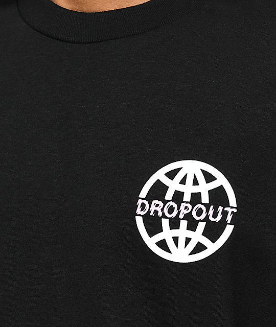 DROPOUT CLUB INTL. Worldwide camiseta negra