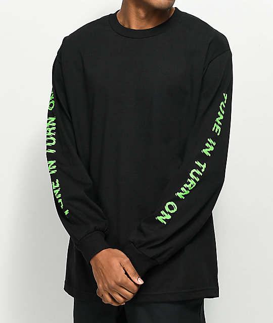 DROPOUT CLUB INTL. Zorched Black Long Sleeve T-Shirt