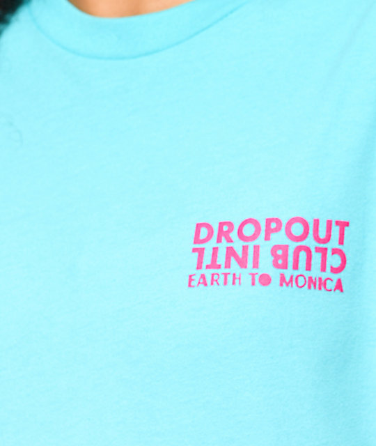 DROPOUT CLUB INTL. x Earth To Monica 3D Heart Eyes camiseta en verde azulado