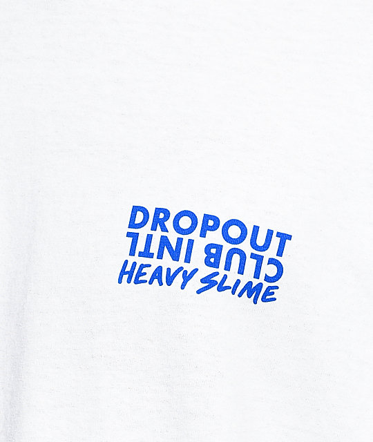 DROPOUT CLUB INTL. x Heavy Slime Bar White T-Shirt