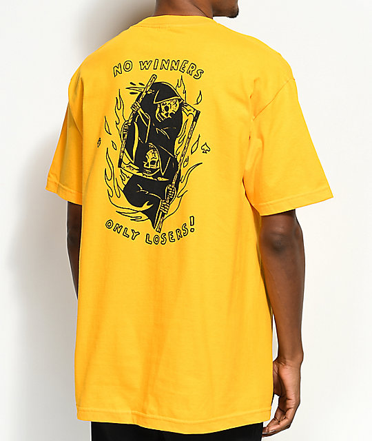 56c5adab2 DROPOUT CLUB INTL. x Heavy Slime Losers Yellow T-Shirt