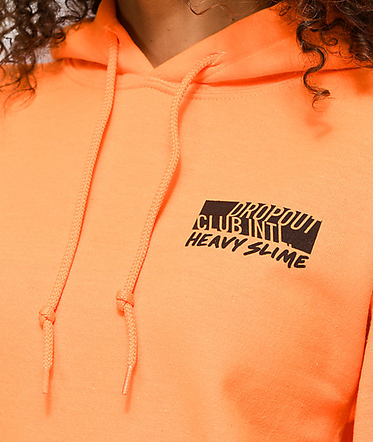 DROPOUT CLUB INTL. x Heavyslime My God Orange Hoodie