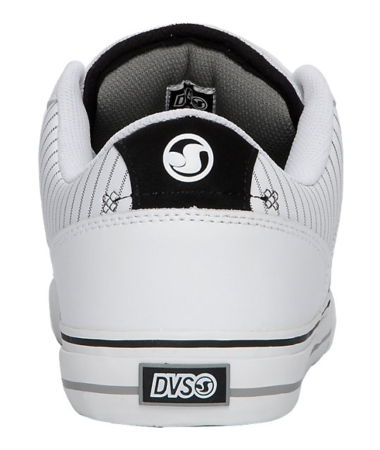 DVS Carson White & Grey Leather Shoes