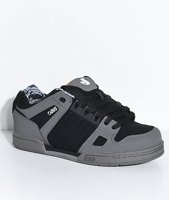 DVS Celsius Deegan Black & Grey Nubuck Skate Shoes