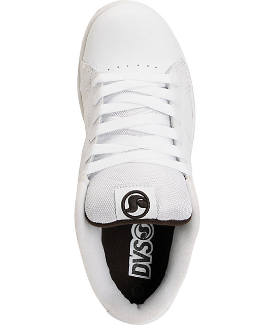 DVS Charge White Leather & Gum Shoes