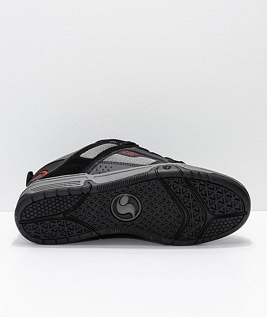 DVS Comanche Black, Charcoal & Red Skate Shoes