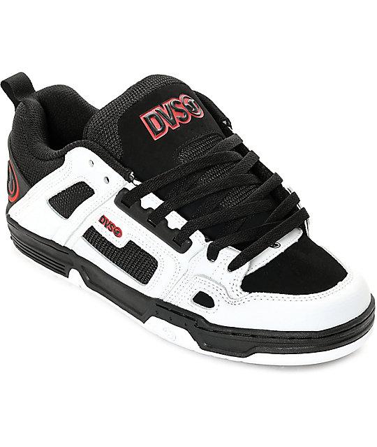 DVS Comanche Chaussure - black white nubuck KBEwmT