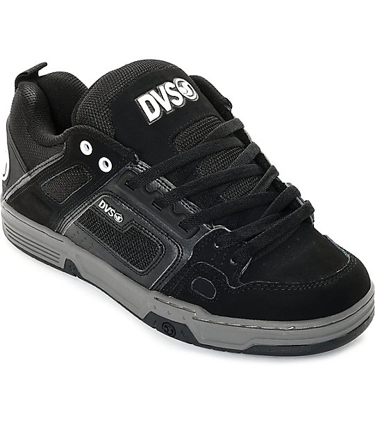 DVS Comanche Black Nubuck Skate Shoes