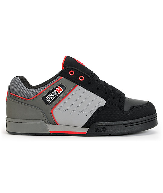DVS Durham Black, Grey & Red Skate Shoes