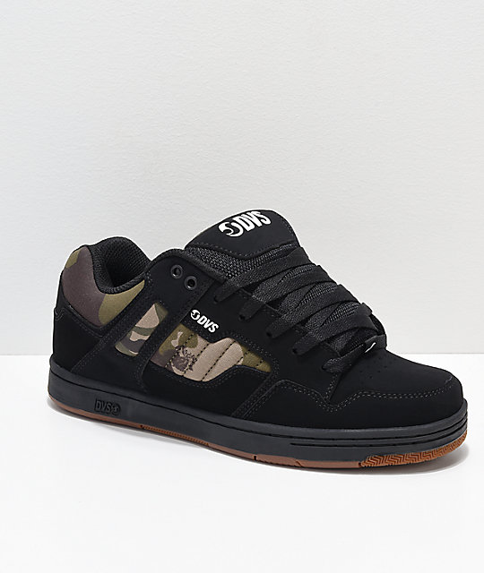 b9a6c97e91517 DVS Enduro 125 Black   Camo Skate Shoes