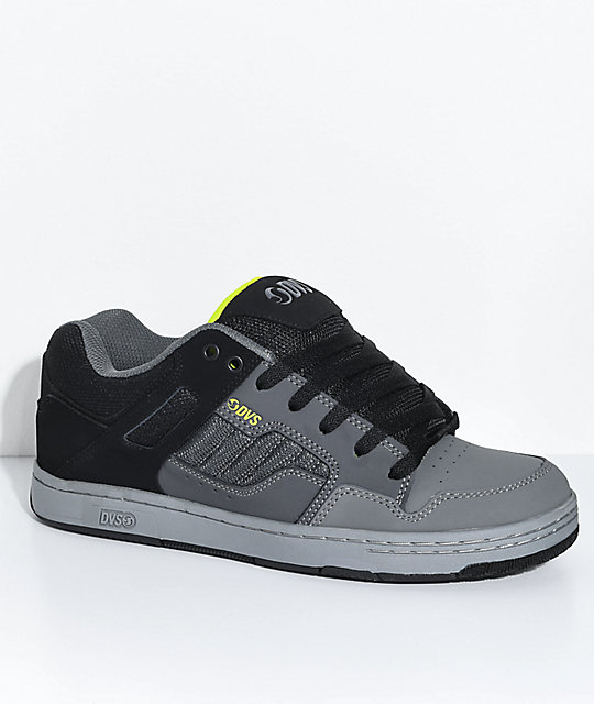 DVS Enduro 125 Charcoal & Black Skate Shoes ...