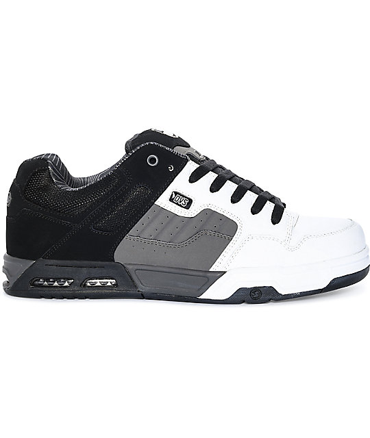 DVS Enduro Heir Black, Charcoal & White Skate Shoes
