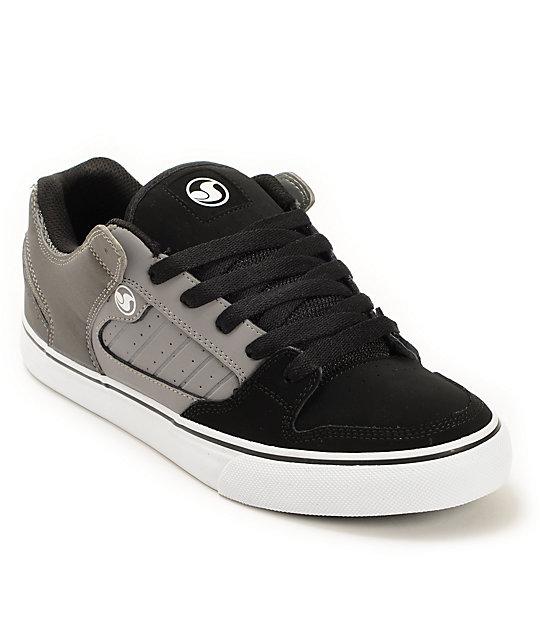 adaa4f6d7140 DVS Militia Vulc Black   Grey Skate Shoes