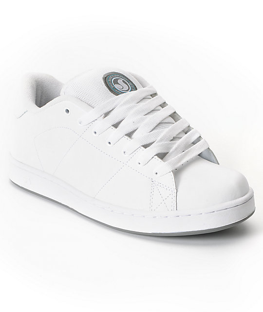 DVS Revival White Leather Skate Shoes