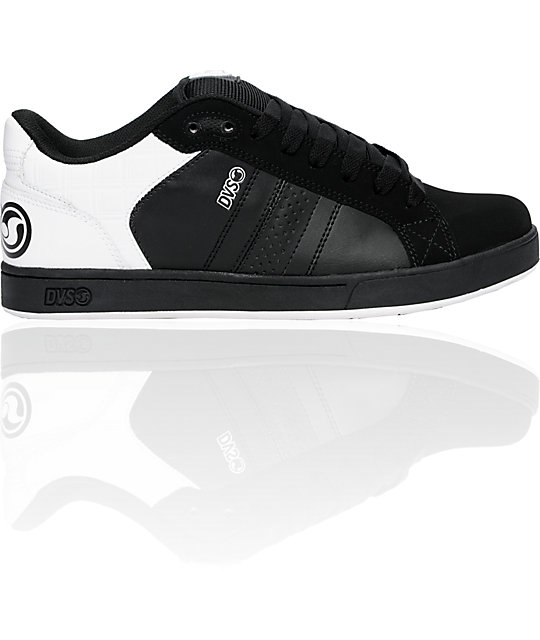DVS Shoes Charge Black & White Nubuck Shoes