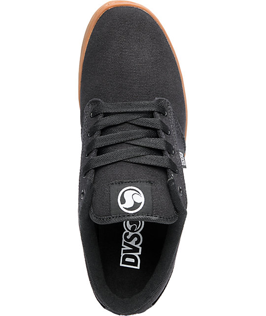 DVS Shoes Inmate Black Canvas & Gum Shoes
