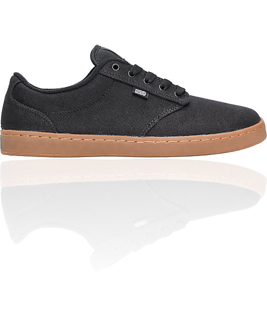 DVS Inmate Black Canvas Mens Skateboarding Sneakers QyVIOH