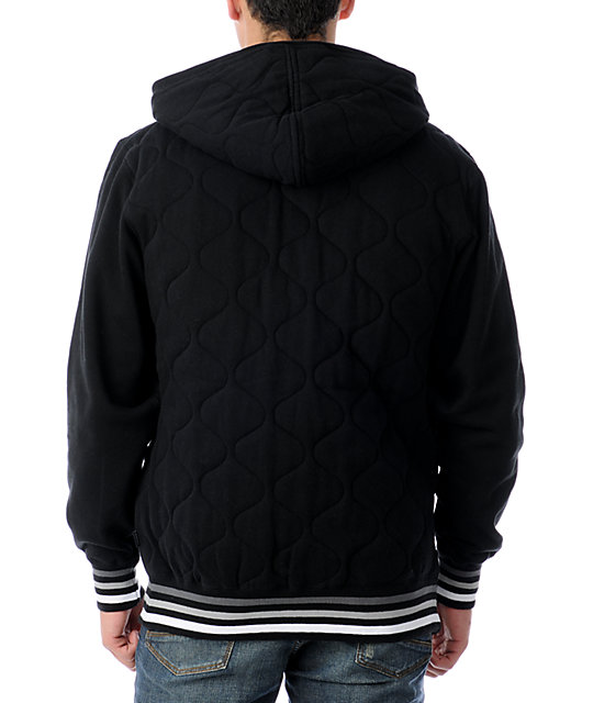 DVS Shoes Offsides Black Zip Up Hoodie