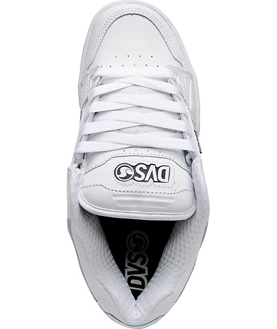 DVS Shoes Squadron White Leather Skate Shoes
