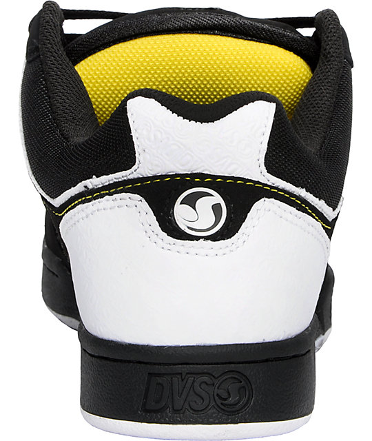 DVS Transom Black, White & Yellow Shoes