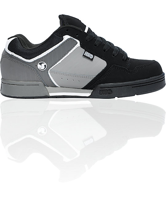 DVS Transom Black & Grey Nubuck Skate Shoes