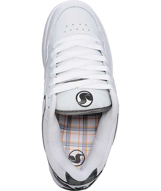 DVS Transom White & Grey Leather Shoes