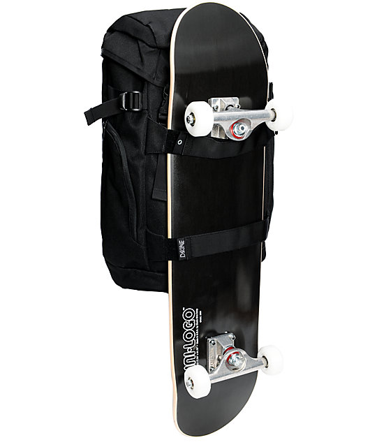 Dakine Burnside Black Skate Backpack