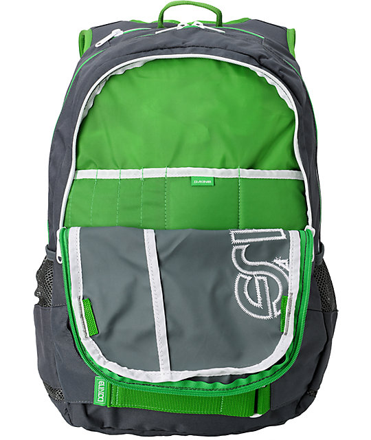 Dakine Division Charcoal & Green Skate Backpack