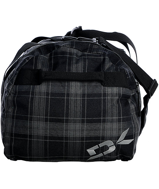 Dakine EQ Medium Grey & Black North Plaid Duffel Bag