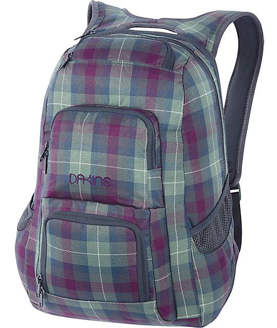 7b37d875cca0 Dakine Jewel Tartan Plaid Backpack