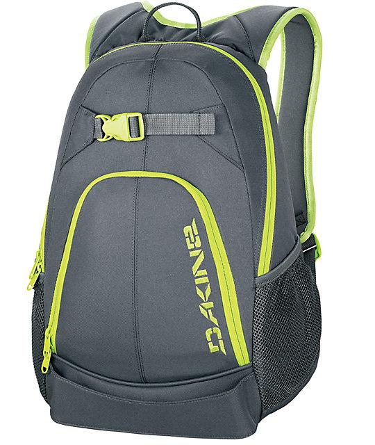 e6255a015fbf7 Dakine Pivot Charcoal   Lime Skate Backpack