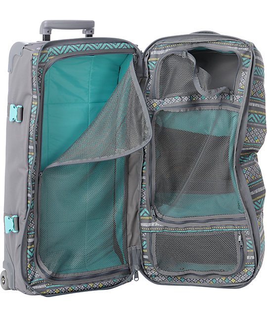 Dakine Sierra Large Grey Split Luggage Roller Bag