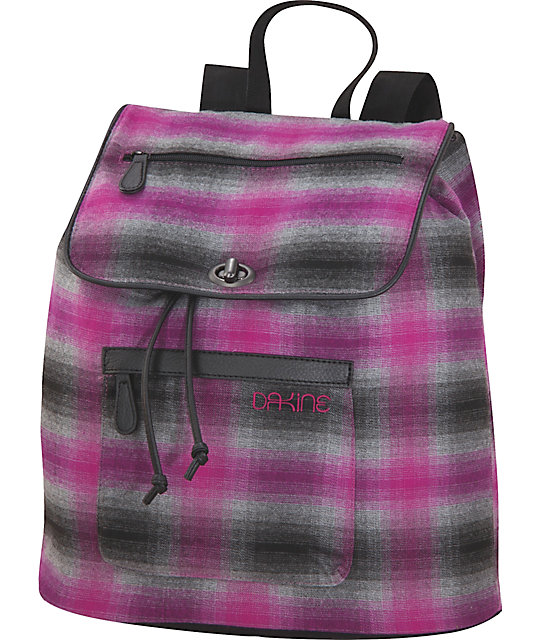 Dakine Sophia Chalet Plaid Tote Backpack