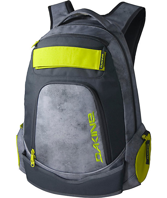Dakine Varial Grey & Citron Skate Backpack
