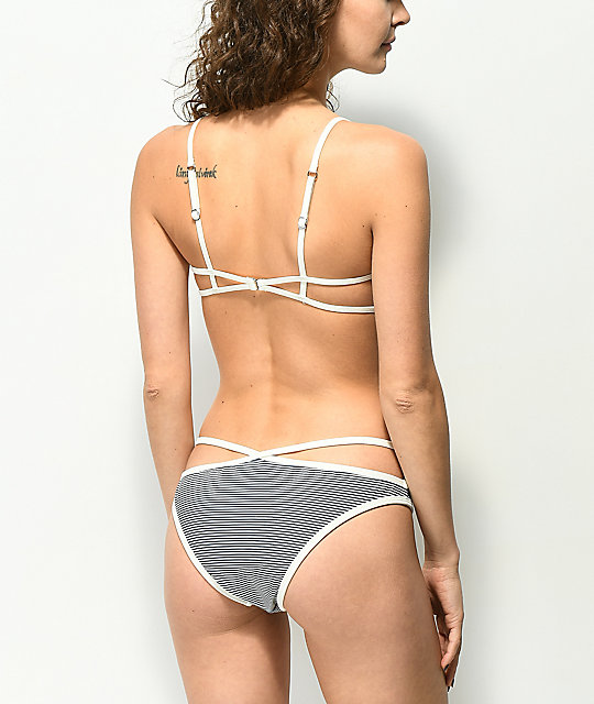 Damsel Beegee Striped Cheeky Bikini Bottom