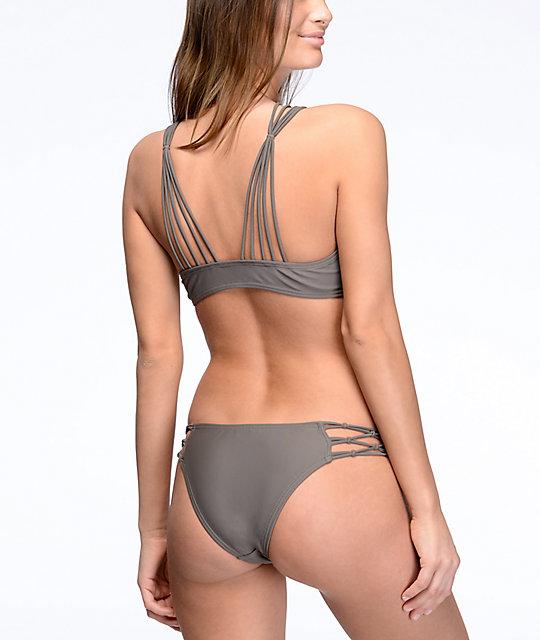 b23ab24b348ab ... Damsel Macrame Side Pebble Grey Super Cheeky Bikini Bottom ...
