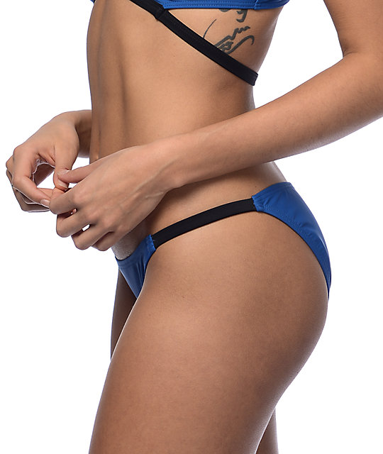 Damsel Navy & Black Cheeky Hipster Bikini Bottom