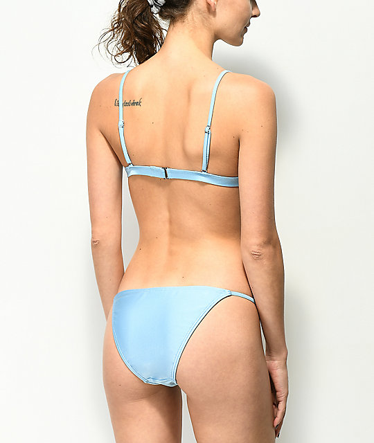 Damsel Shimmer Blue Super Cheeky Bikini Bottom